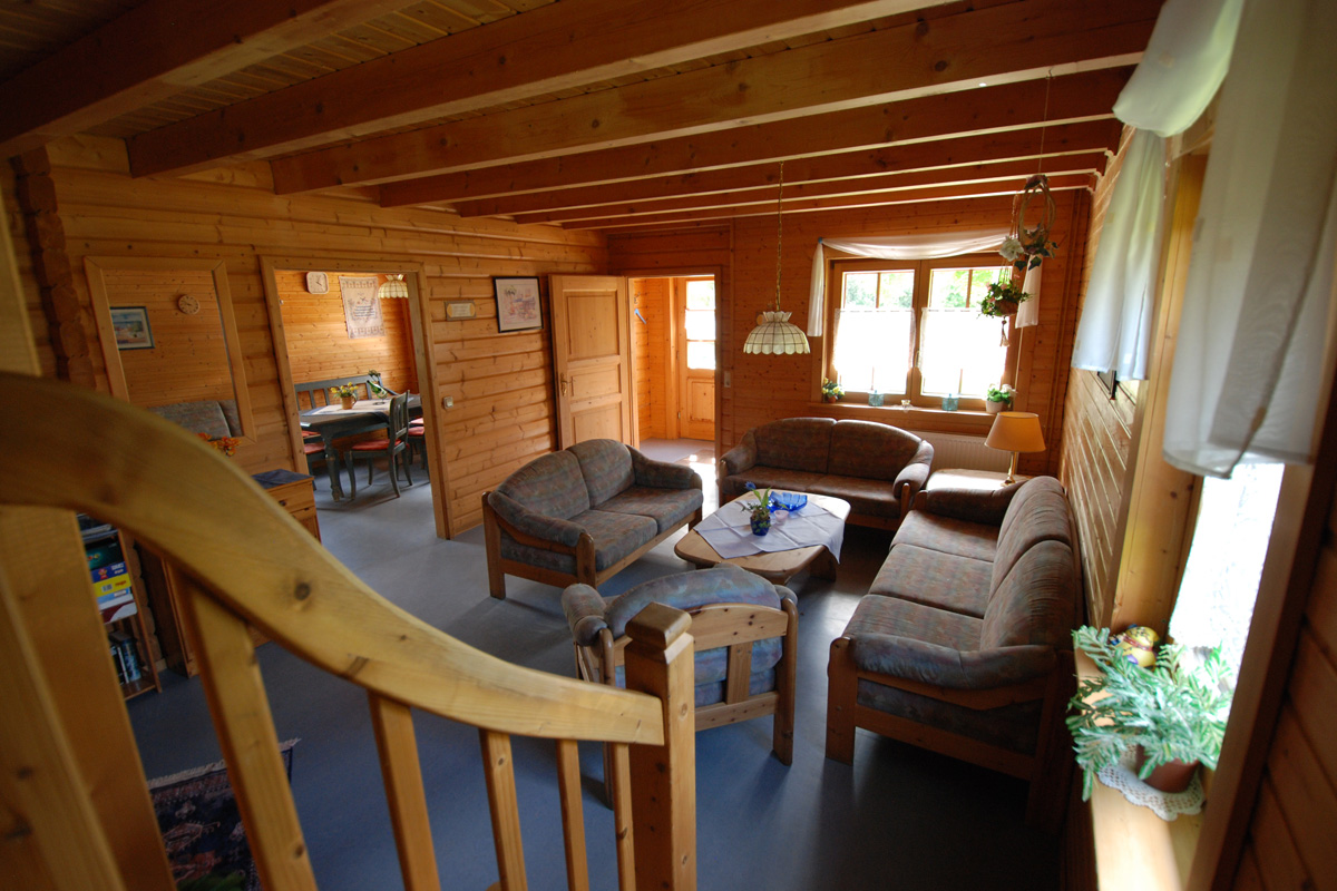 Holzblockhaus am Silbersee:10 Pers. in ruh. Waldrandlage & gr ...