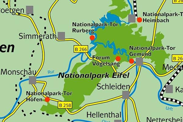 heimbach eifel karte Nationalpark Gästehaus Hergarten in Heimbach (Eifel)